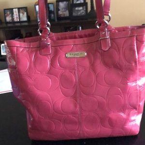 Coach purse coral